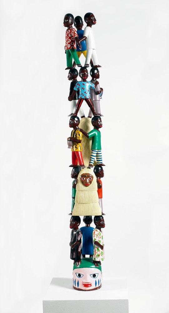 Eloi-Lokossou_Senza-titolo-smalti-su-legno-h.170-2008