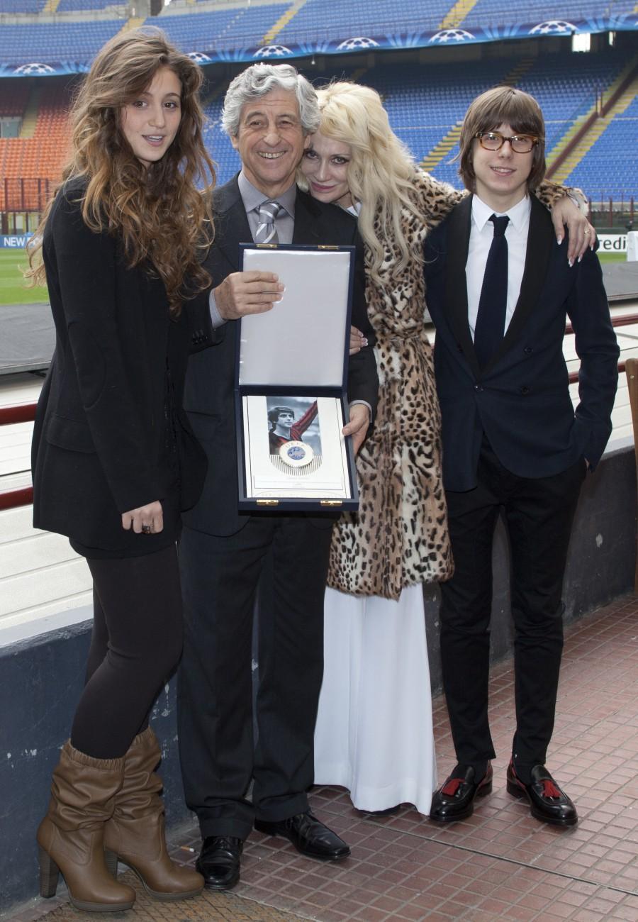 Gianni Rivera e la sua Famiglia