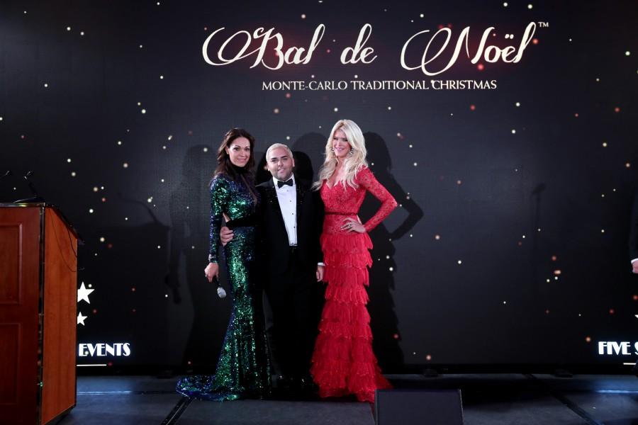 Sandrine Garbagnati-Knoell & Victoria Silvstedt dress by Ali Karoui