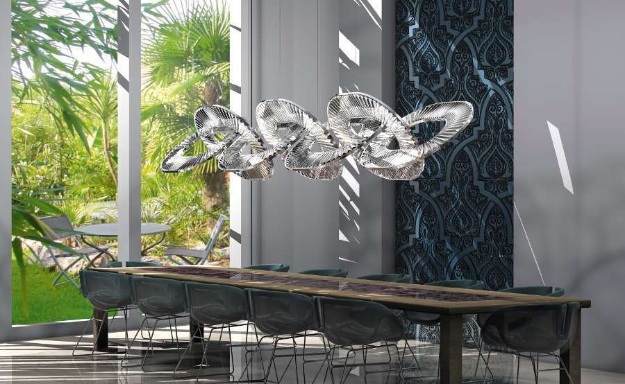 Clarissa Dorn and Roel Haagmans of WINDFALL, have presented their new  creations for the second time to EUROLUCE. The magic is still there: it is  that of a ...