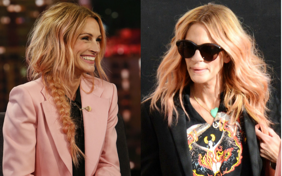 Julia Roberts hair moment en rose
