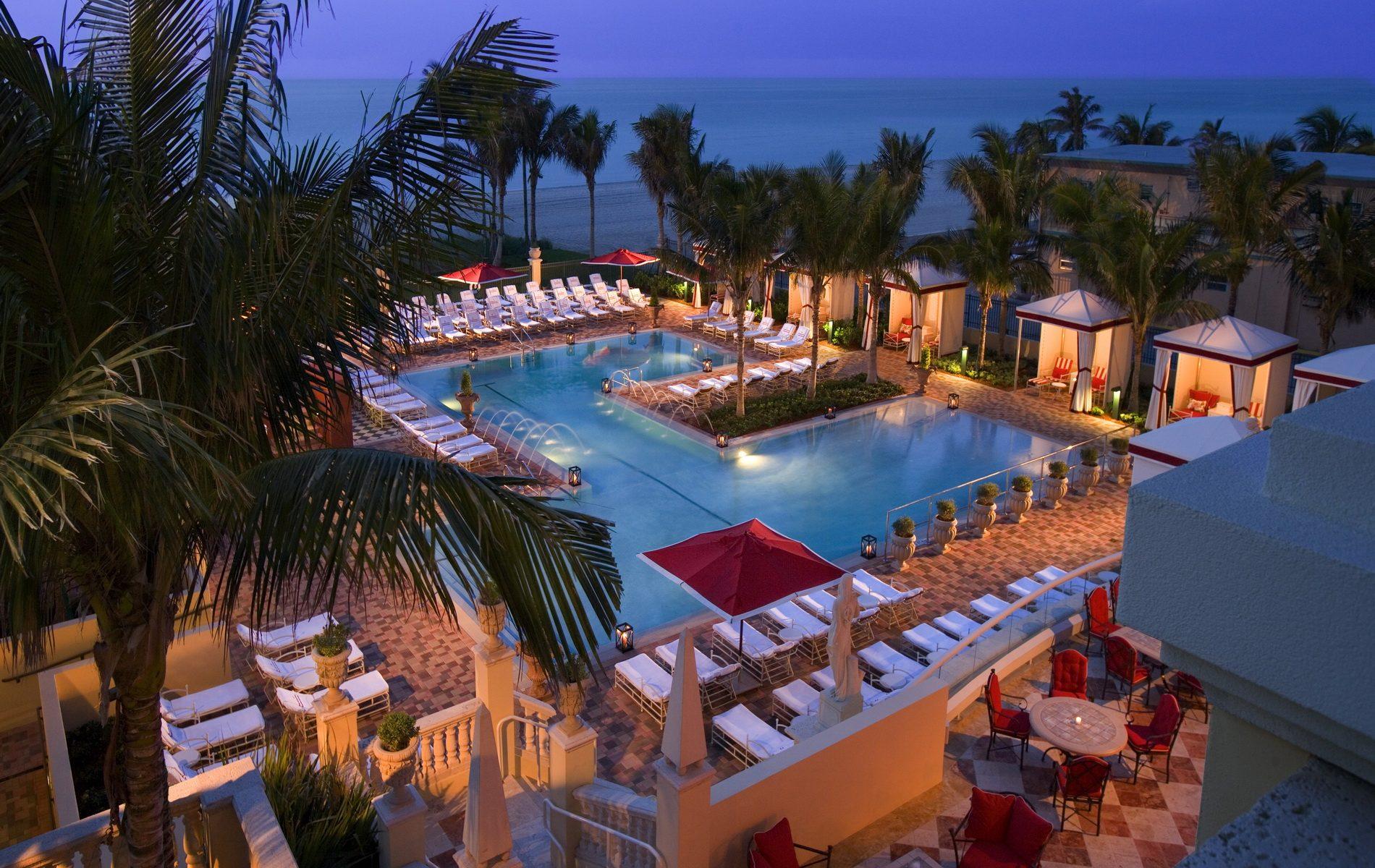 acqualina beach club pool Miami