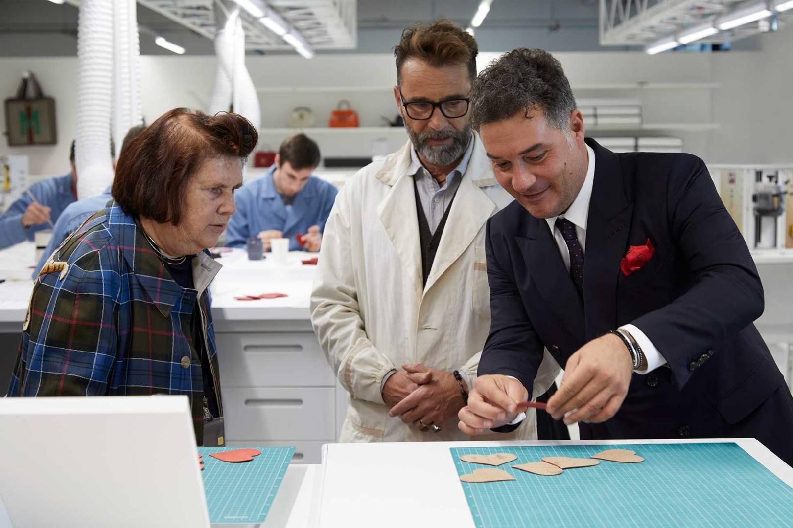 Suzy Menkes visiting Gucci Ecole de l'Amour