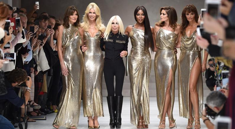 Donatella Versace Brought Back Original Gang 90s Supermodels