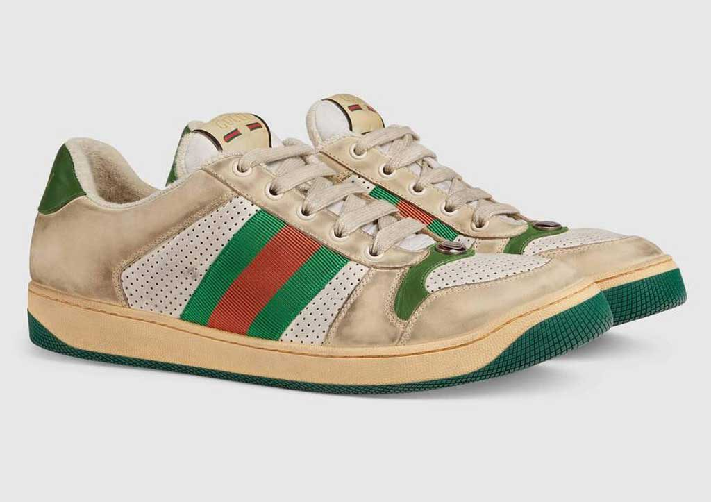 excellence magazine gucci screener sneakers