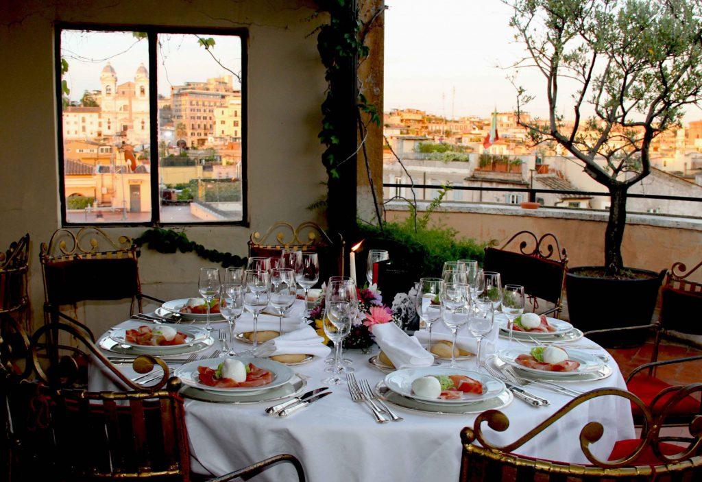 terrazza trinità dei monti restaurant rome