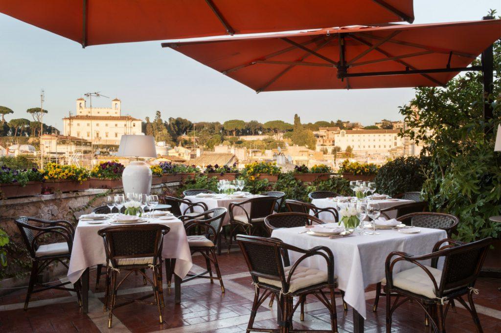 terrazza trinità dei monti restaurant rome romantic place city view