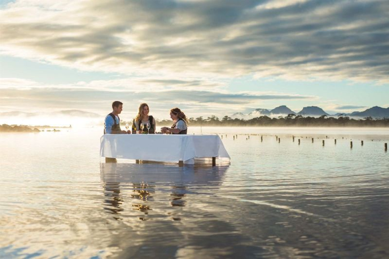 Saffire Freycinet luxury dinner