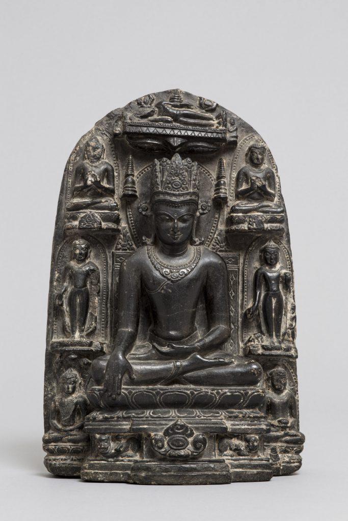 India antica Budda incoronato e storie della sua vita