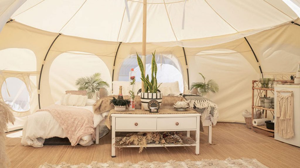 glamping luxury camping