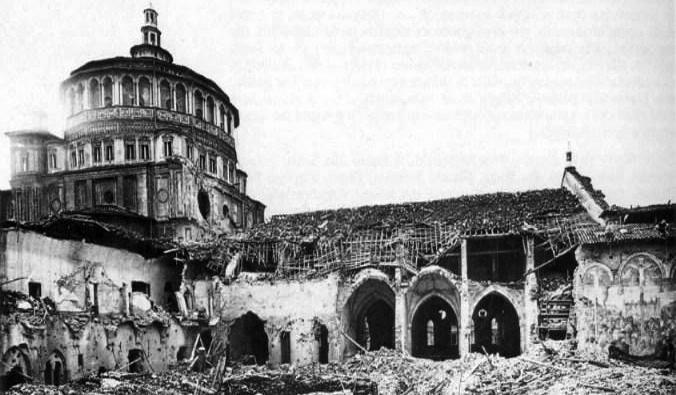 Santa Maria delle Grazie Milan_-_bombardamento_del_1943