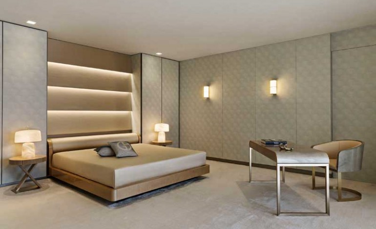 Armani Casa master bedroom