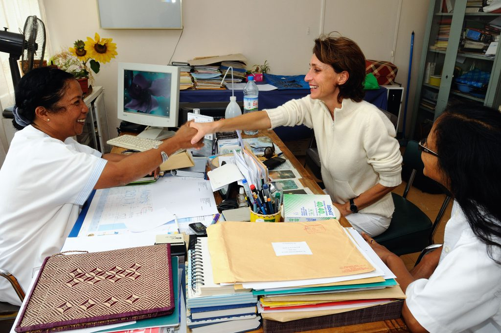 cinzia catalfamo, founder and president, with a member of our medical team