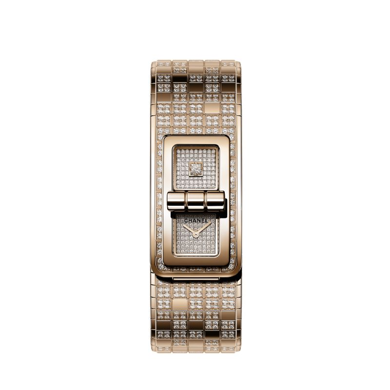code coco pixel watch beige gold diamond