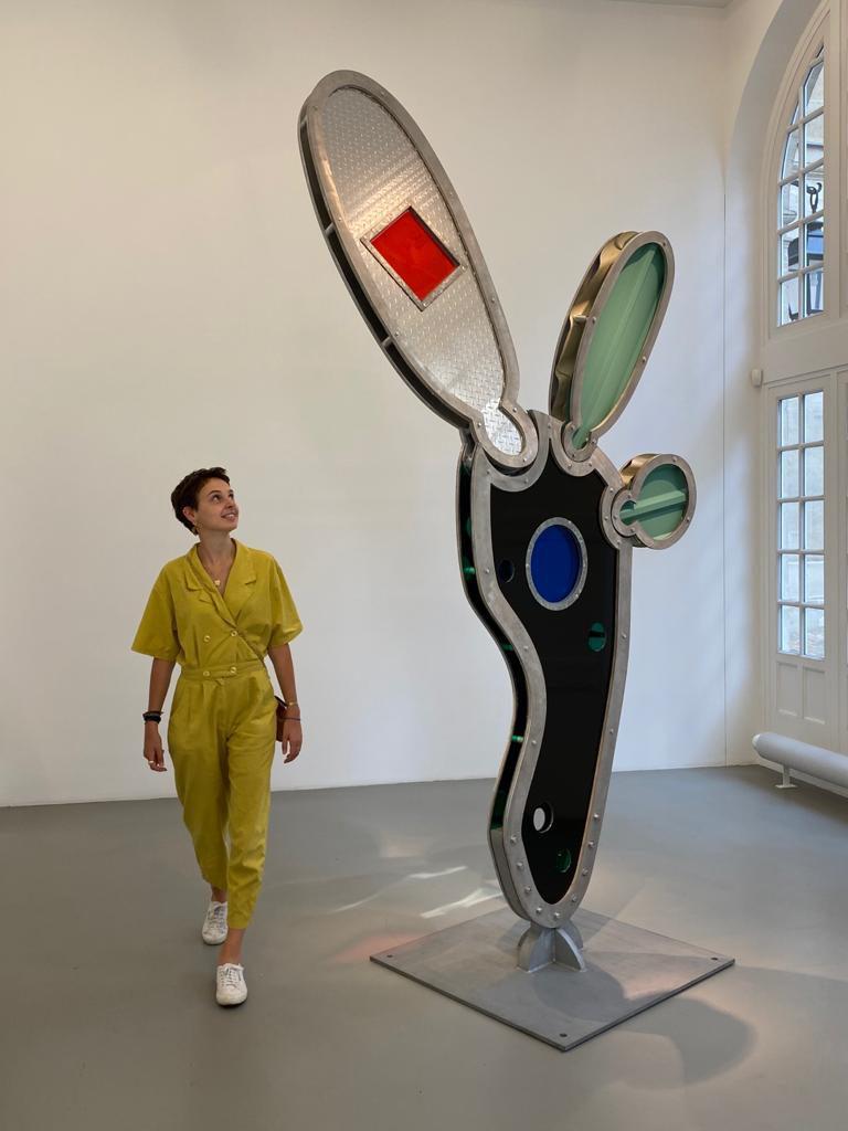 Vue de l'exposition Dennis Oppenheim a la Galerie Mitterrand