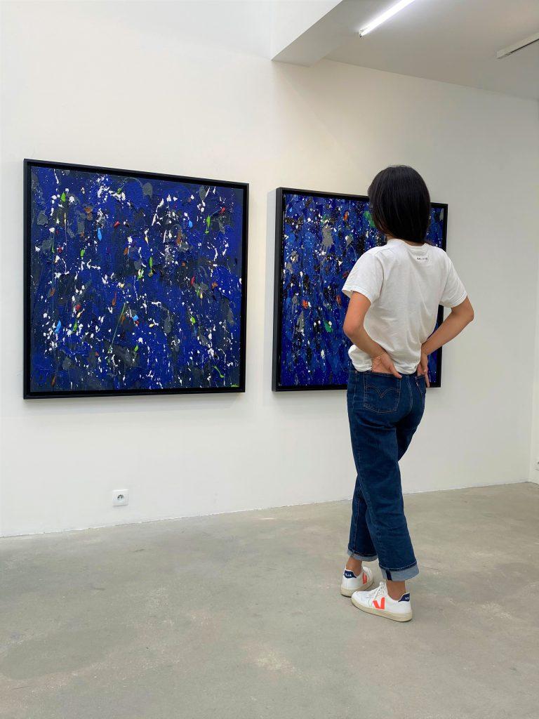 Vue en galerie, exposition INFINITY de JonOne, galerie Rabouan Moussion, 2020