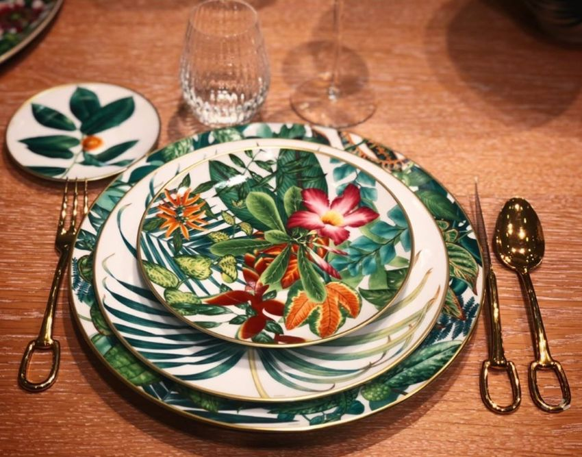 hermes passiflora tableware excellence magazine